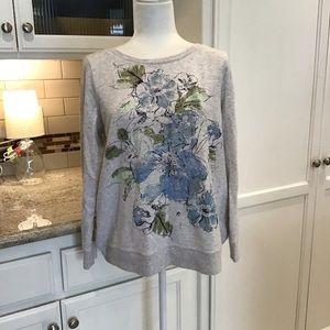 J JILL Cozy Floral Sweatshirt
